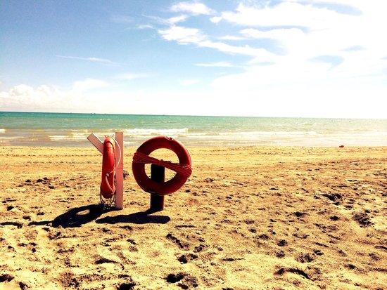Grand Hotel Don Juan : Blick vom Hotelstrand aufs Meer