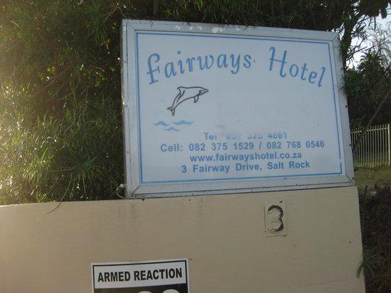 Fairways Hotel: A so-called four star establishment - false advertising.