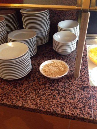 "Britannia Airport Hotel: Abandoned cereals, even we weren't the only ones to show lack of interest in their ""continental"""