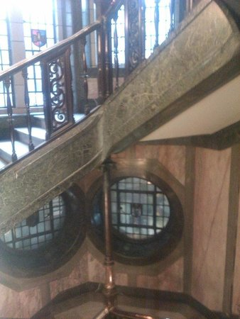 The Palace Hotel: the impressive staircase