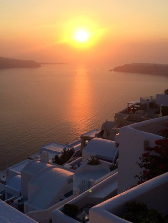 Artemis Villas: The sunset from our blacony
