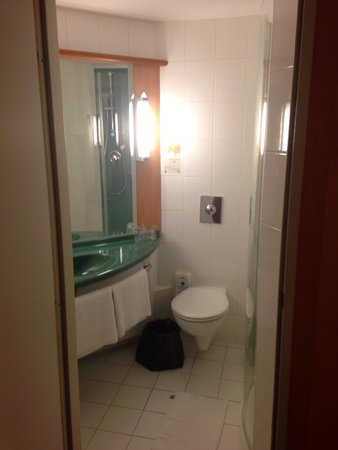 Ibis Praha Old Town: Bathroom tight but functional