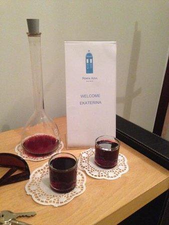 Porta Azul: приветственный портвейн ожидает в номере