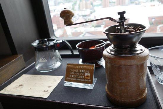 La Vista Hakodate Bay: 房間有免費的咖啡(自己磨)