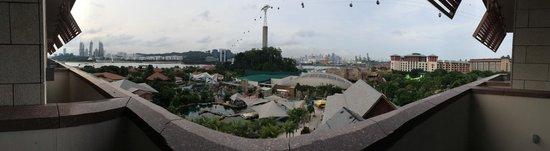 Resorts World Sentosa - Equarius Hotel: Panoramic view facing North