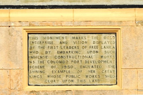 The Lighthouse: The commemorative plaque at the light house