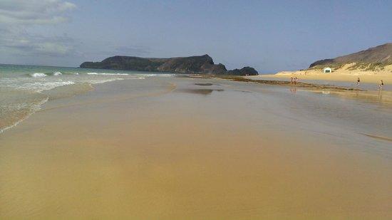 Vila Baleira Resort Porto Santo: Spiaggia con la bassa marea, una meraviglia