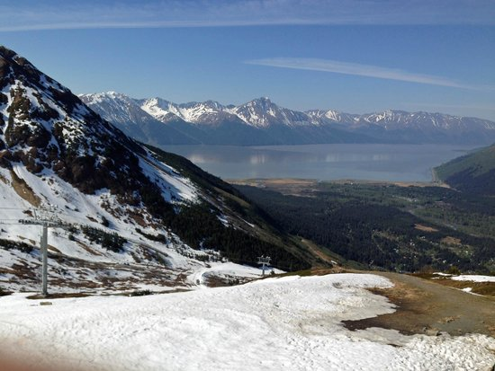 Hotel Alyeska: View of Turnagain Arm from top of mountain