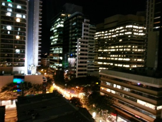 The Sebel Brisbane: Night view from balcony