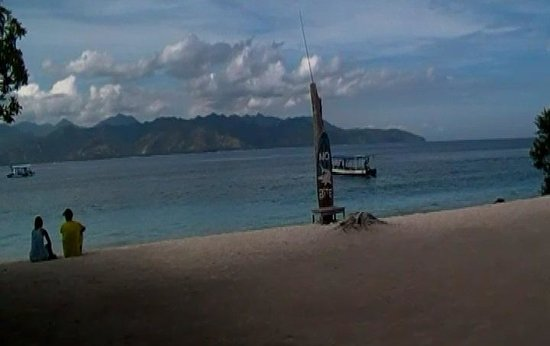 Gili Trawangan: Pantai Gili Terawangan Pagi hari