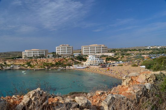 Radisson Blu Resort & Spa, Malta Golden Sands: Golden Sands from across the bay