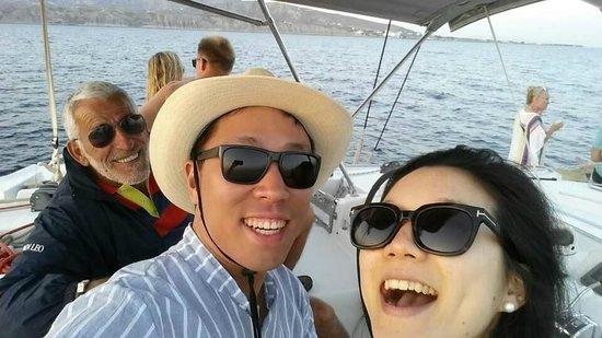 Spiridakos Sailing Cruises: with our captain Nikitas