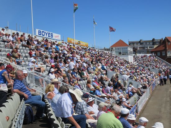 Scarborough Cricket Club: Stand at Peasholm Park end