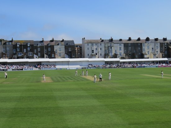 Scarborough Cricket Club: View from the Peasholm Park end