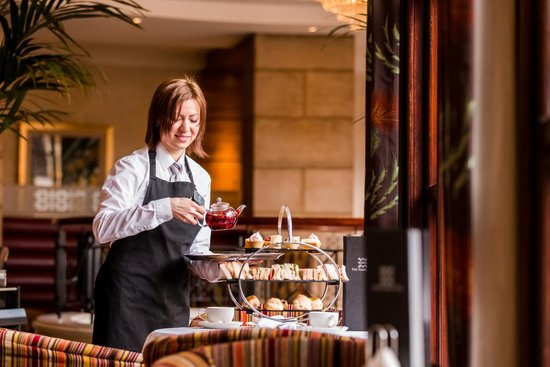 Afternoon Tea at Europa Hotel - Belfast: Serving Afternoon Tea at the Europa Hotel in Belfast