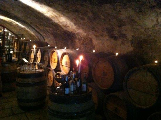Chateau des Comtes de Challes : Cave à vins