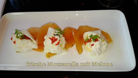 Motto am Fluss: Mozzarella mit Melone, GRANDIOS!