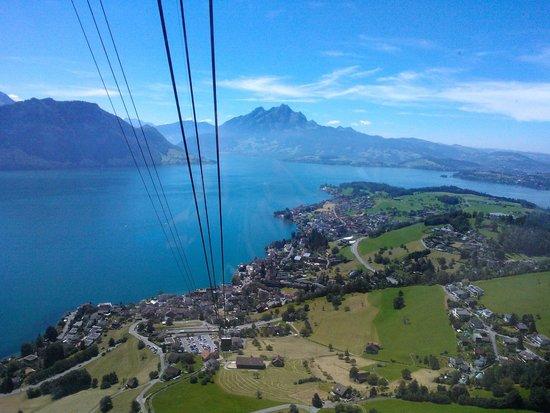 Mt. Rigi : Views from the cable car (Weggis - Rigi Kaltbad)