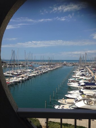 Mercure La Grande Motte Port : Vue de notre terrasse !! Splendide