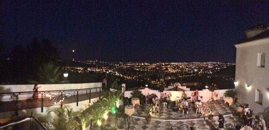Restaurante Amador : A view of Malaga from the terrace.