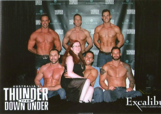 Australia's Thunder from Down Under : Me and the Thunder guys