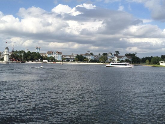 Disney's Beach Club Resort: the hotel is on the other side of the lake