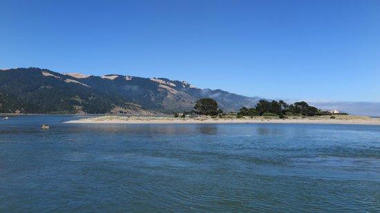 Bolinas Beach: The bay leading into the nice beach...