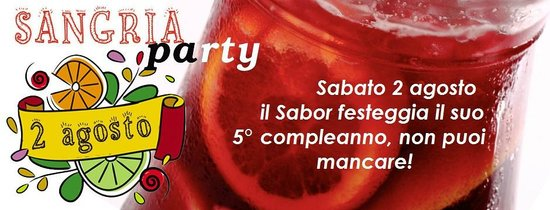 Sabor Catalan : 2 agosto 2014 SANGRIA PARTY