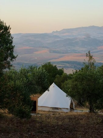 Hidden Valley Andalucia : Our comfortable and spacious tent with a cracking view