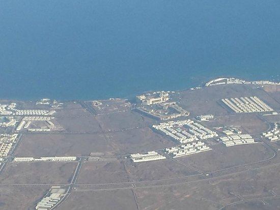 Occidental Lanzarote Mar: hotel des del avion