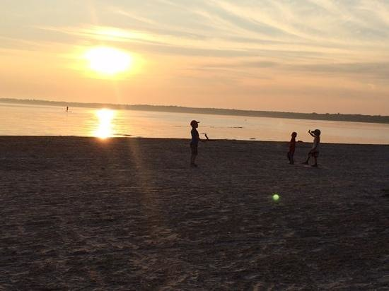 Sandbanks Provincial Park: sun set at sand banks