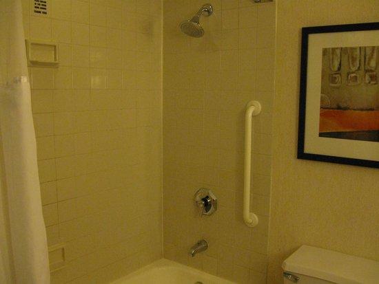 New York Marriott Marquis: シャワーはこんな風