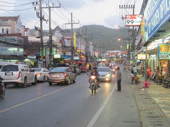 Karon Beach: the main street of Karon leading to the beach