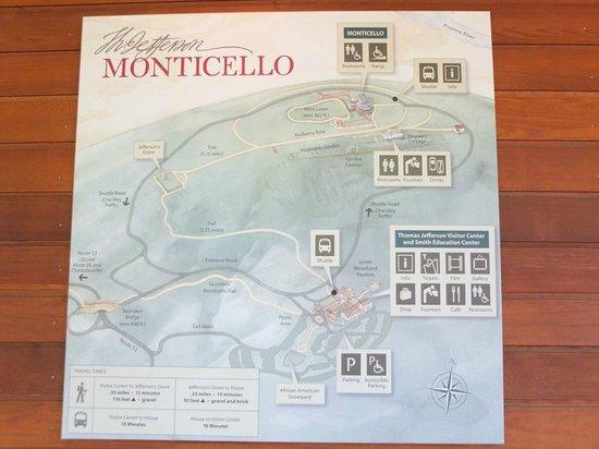 Thomas Jefferson's Monticello: 説明図