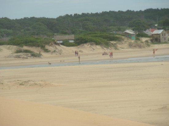 Valizas Hostel: playa