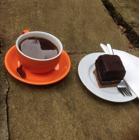 The Angel Coffee House: Coffee and Chocolate Cake Combo - nothing more required:)
