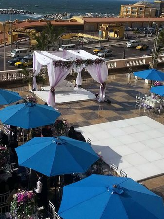 TOLIP Hotel Alexandria : Open Air Terrace (Wedding Setup)