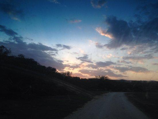 Crider's on the Frio: Sunset