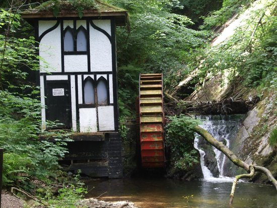 Groudle Glen Railway: The old water wheel you pass waiting to be restored