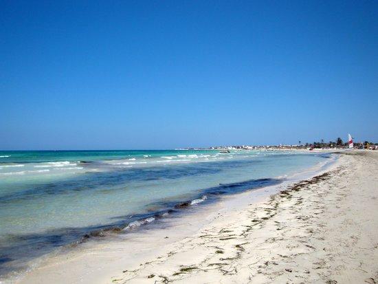 Hotel Palace Royal Garden : La plage et la mer magnifiquement bleue §