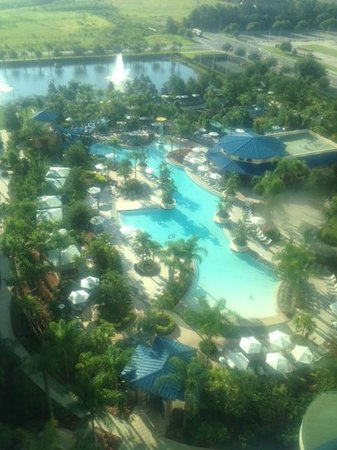 Hilton Orlando: Room w/Pool View