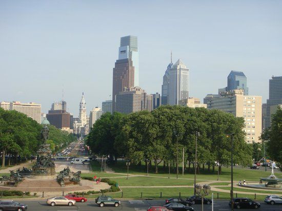 Philadelphia Museum of Art: The city from the Museum