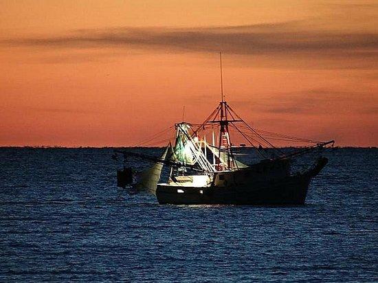 Topsail Island: sunrise shrimp boat