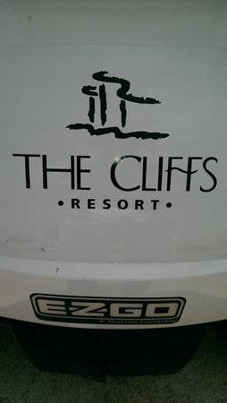 Cliffs at Possum Kingdom: golf cart