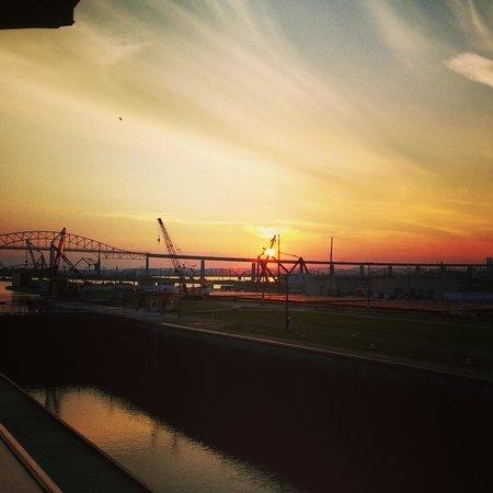 Soo Locks Sunset