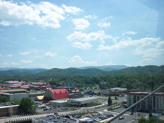 The Great Smoky Mountain Wheel: view from top of  the wheel