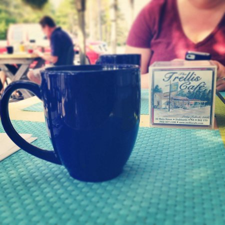 The Trellis Cafe : Coffee on the porch. 