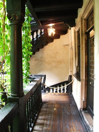 Musée alsacien : The dark wood and leaded glass- charming