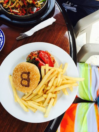 """Burger marked with a """"B"""" lol"""