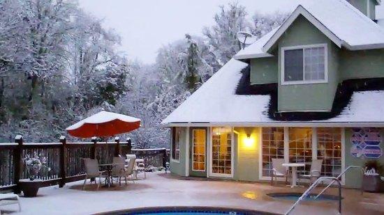 Baechtel Creek Inn: Winter in Willits